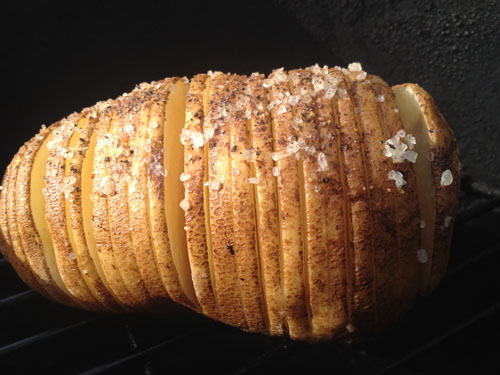 Hasselback Potatoes on the Big Green Egg