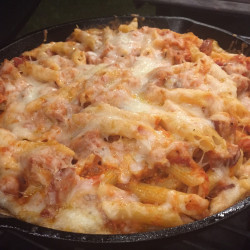 Smoked Sausage and Bacon Baked Penne