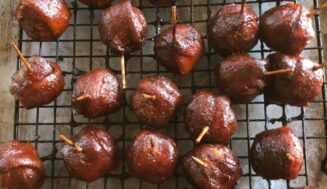 Recipe: Moink Balls (Bacon Wrapped Meatballs)